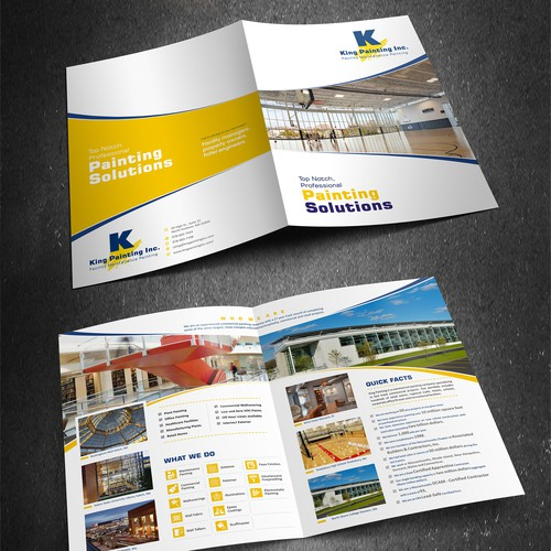 Brochure for established Commercial Painting Company.