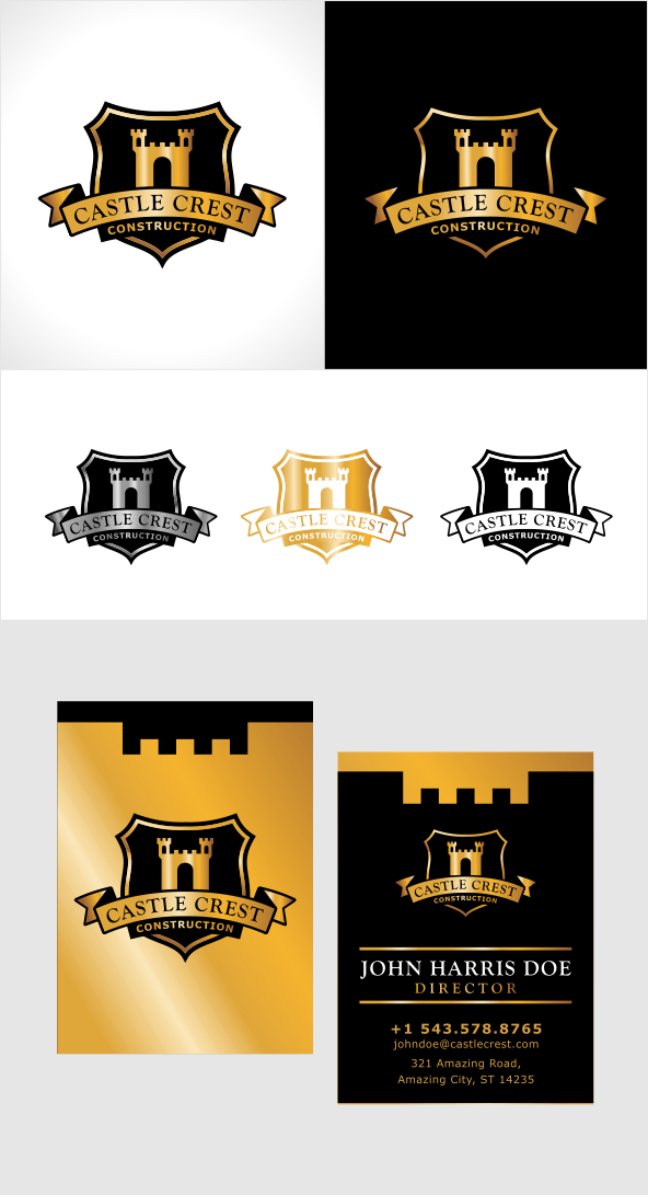 Create a winning logo design for Castle Crest Construction