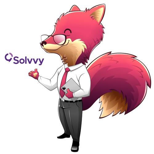 Fox Mascot for Solvvy