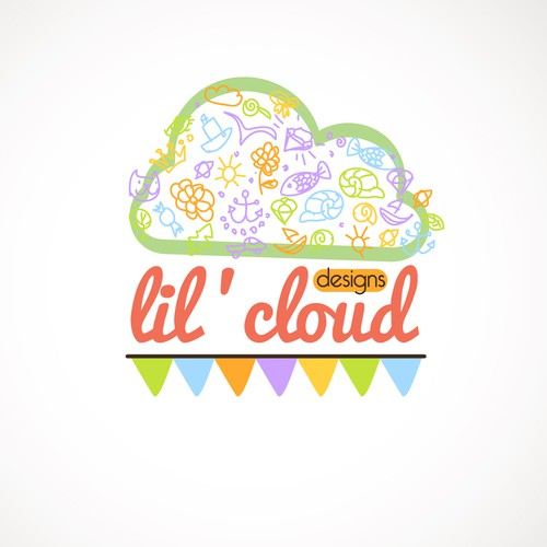 logo for lil' cloud designs