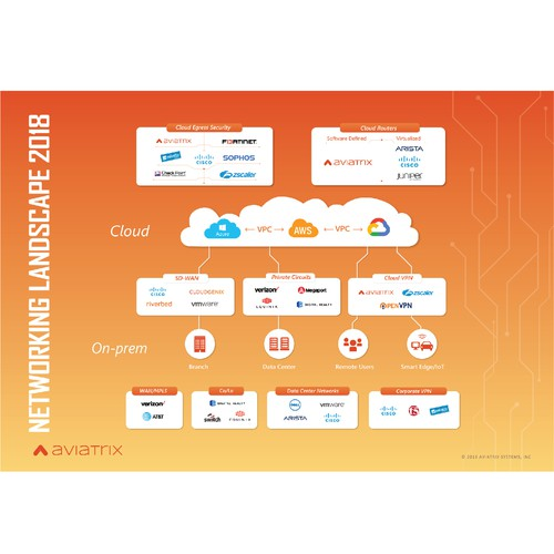 nfographic for CLOUD computing startup (aviatrix)