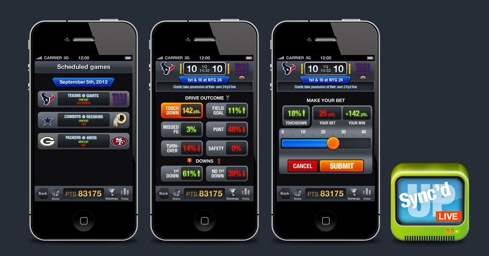 Syncd-Up Football needs a new mobile app design