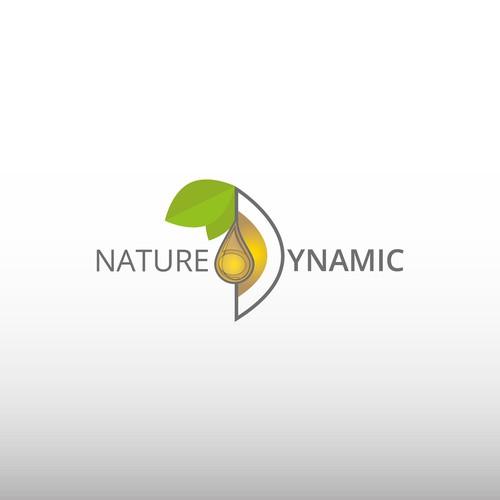 Logo for a plum kernel based cosmetics company