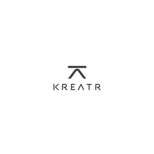 Kreeatr. Clean logo for an innovative creative marketplace.