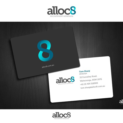 alloc8 (the below needs to support logo as a lock up in some instances) needs a new logo and business card