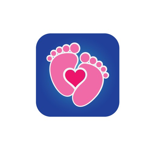 ICON for an App for Pregnant women, seen on a Cell Phone, browsing an App Store.