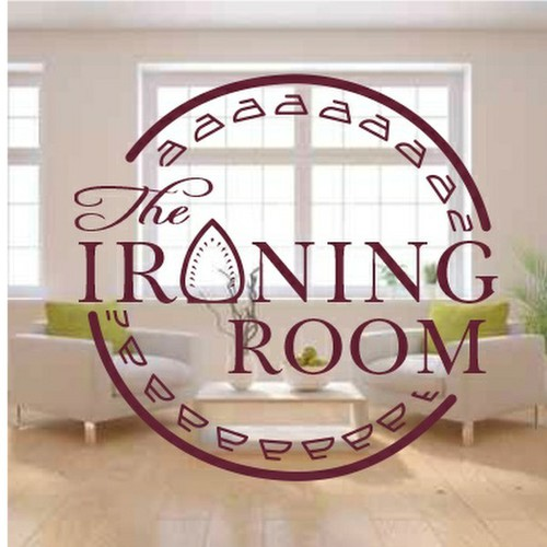 create a modern image that captures  quality and luxury  for The Ironing Room