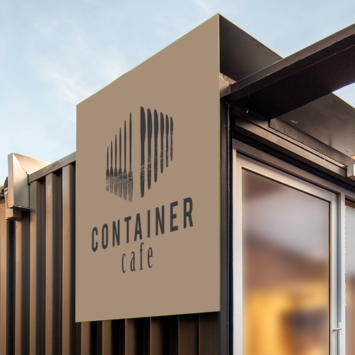 logo for restaurant made from shipping containers