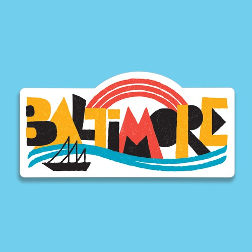 Bold Baltimore sticker