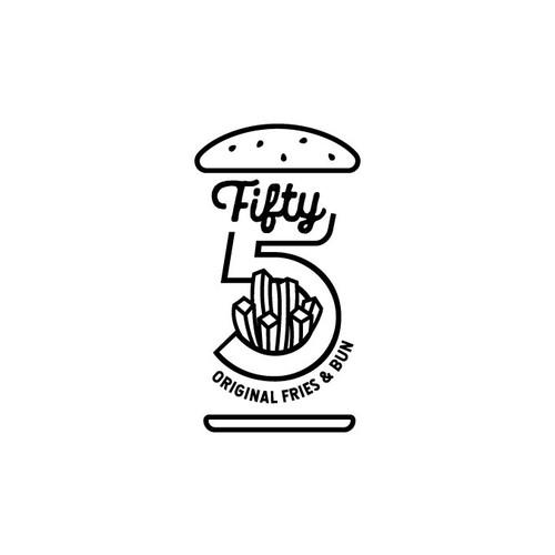 Logo for Fifty Five - original fries & buns