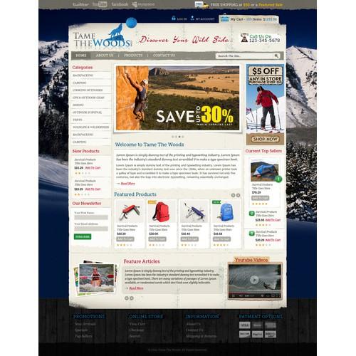 website design for TameTheWoods.com