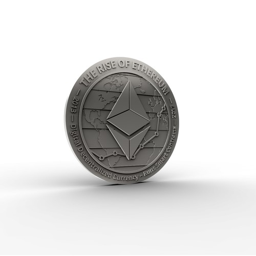 Physical coin of Ethereum Coin
