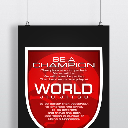 Poster for a Jiu Jitsu organisation