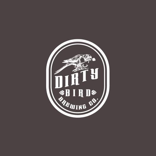 Design a hipster logo for Dirty Bird Brewing Co.