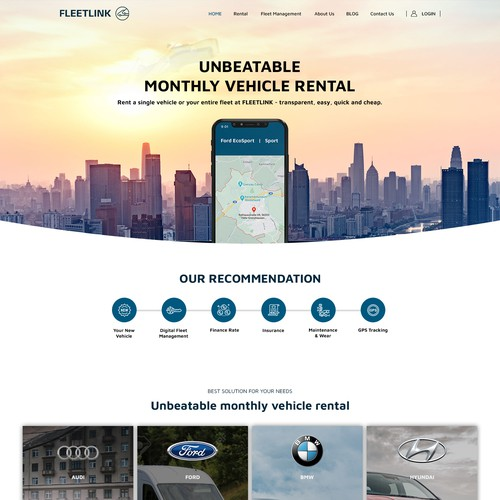 We need a modern and individual design for our new car rental webshop.