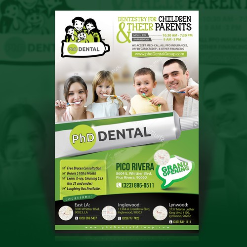 Flyer design for a state of the art Dental Group