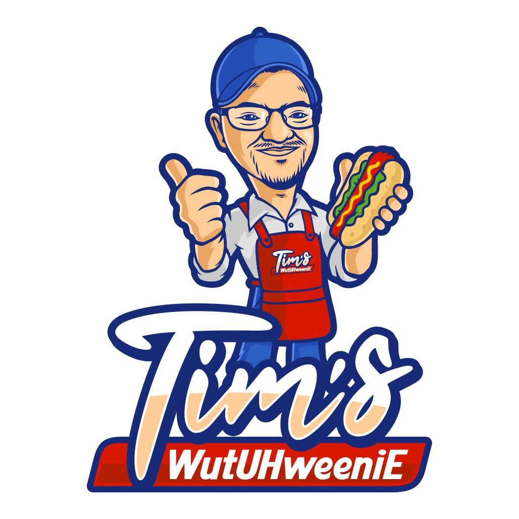 Design Hot Dog Restaurant Cartoony Logo