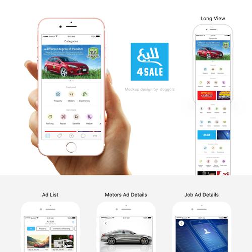 UX/UI Design For 4Sale