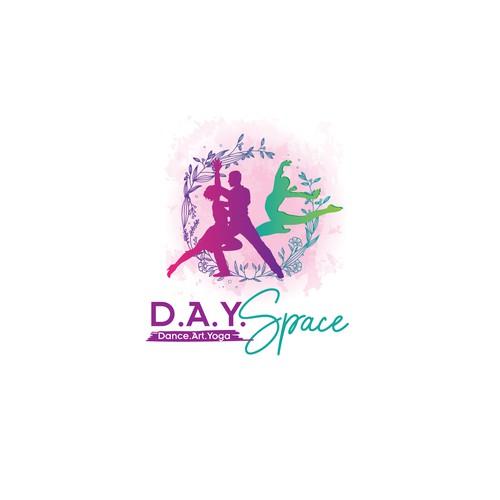 Dance Art Yoga Space artistic logo creation