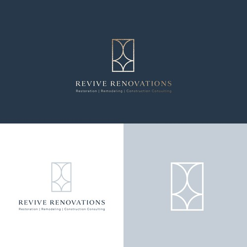 Clean and minimalist logo for construction company