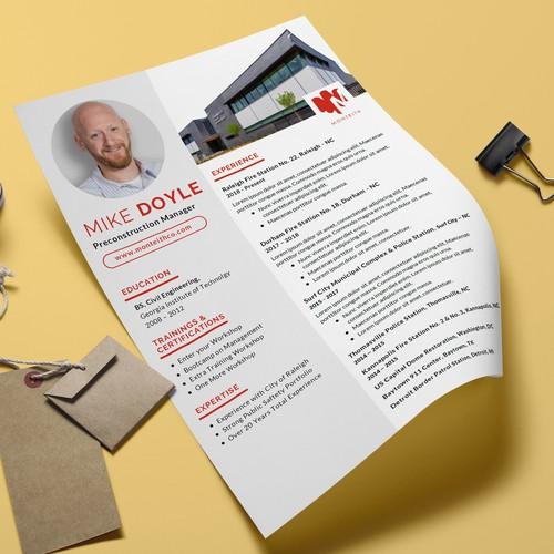 Resume Design/Fact Sheet