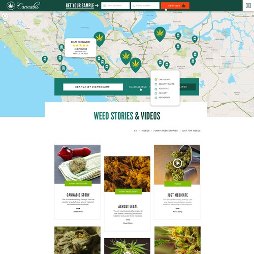 Cannabis Landing Page Design