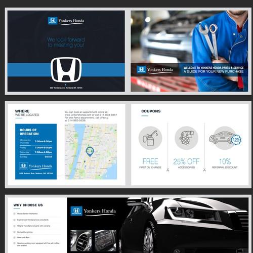 Sleek Booklet Design for Family Car Dealership