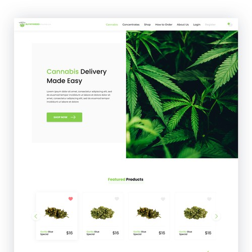 Cannabis Web Design Contest