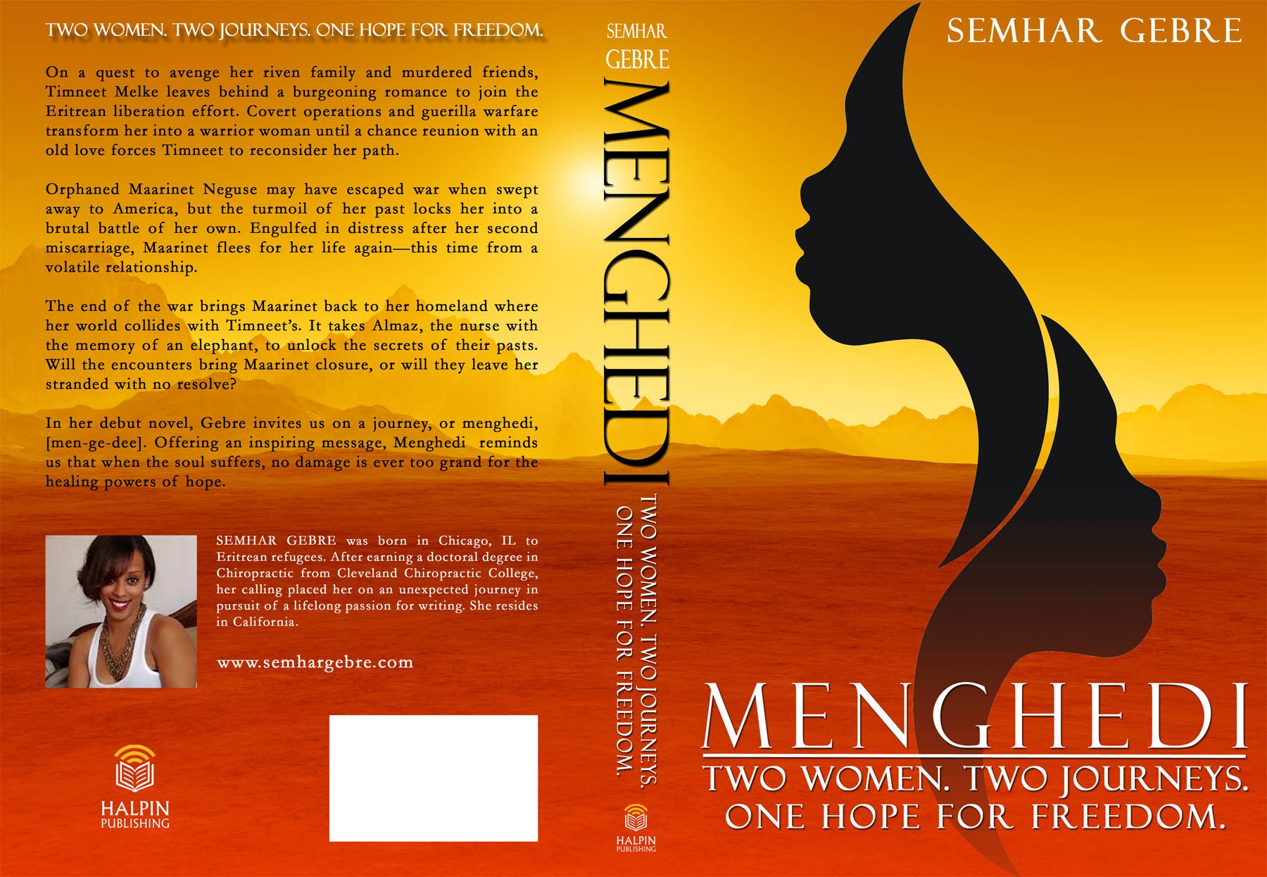 New book cover wanted for Menghedi: Two Women. Two Journeys. One Hope for Freedom.