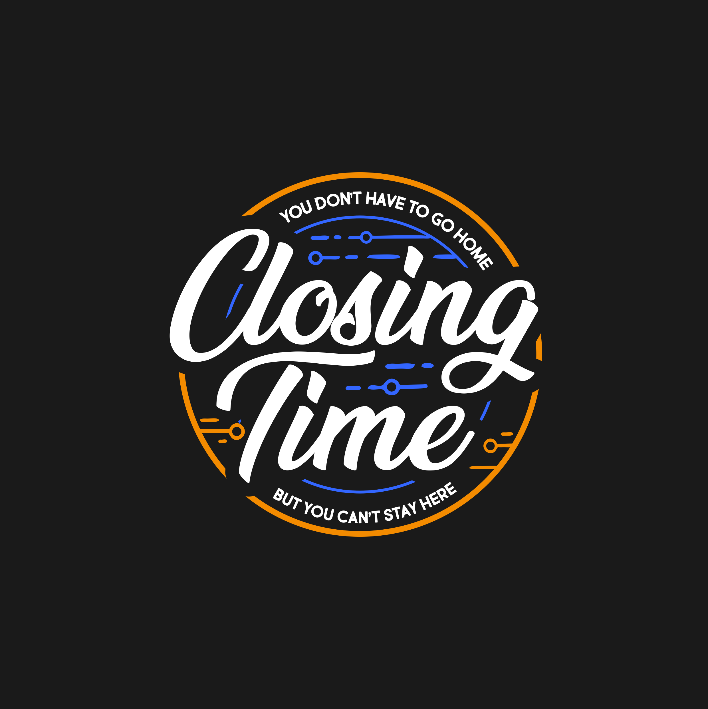 Closing Time Logo Design - moving computer servers from one arch to another