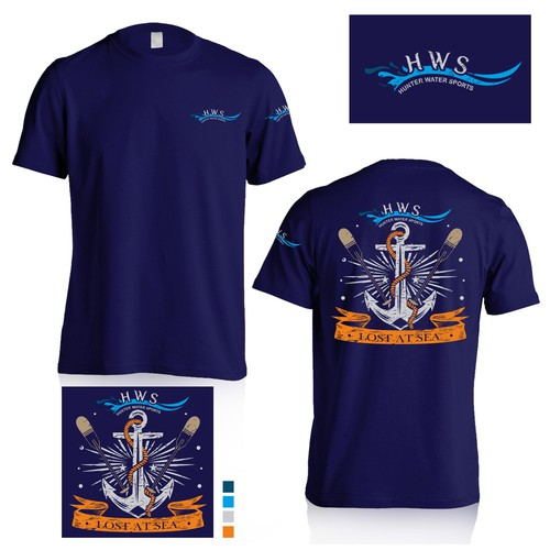 Hunter water sports tshirt design