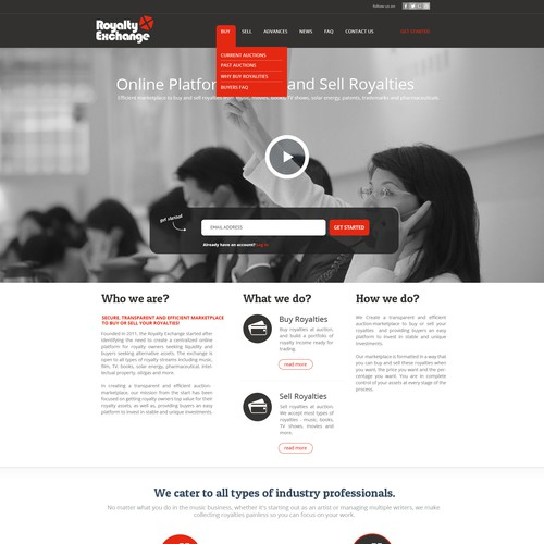 Full Website Design Makeover for Hot New Startup!