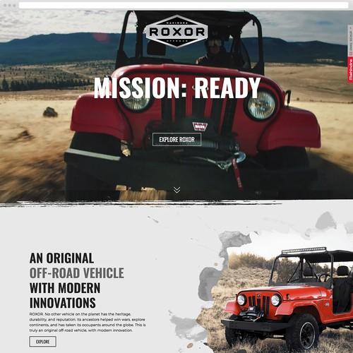 2017 Mahindra ROXOR Website Design