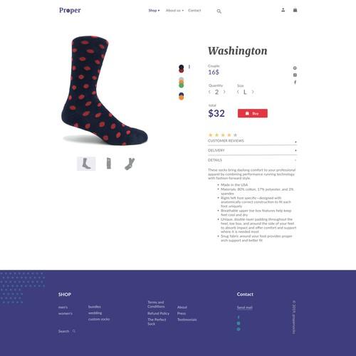 Custom Sock Interactive Website Redesign / card