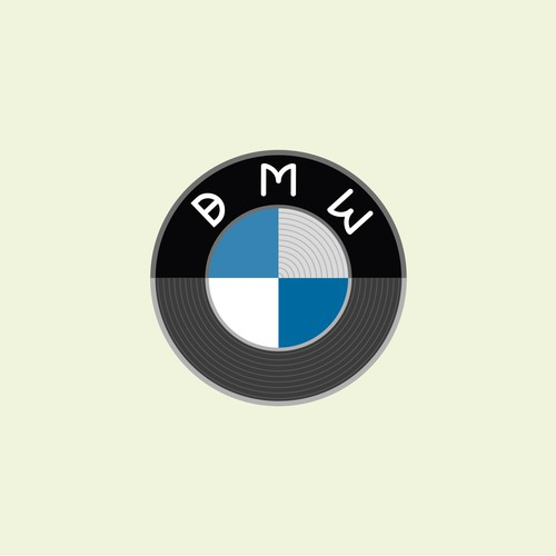 BMW logo with a Bauhaus treatment