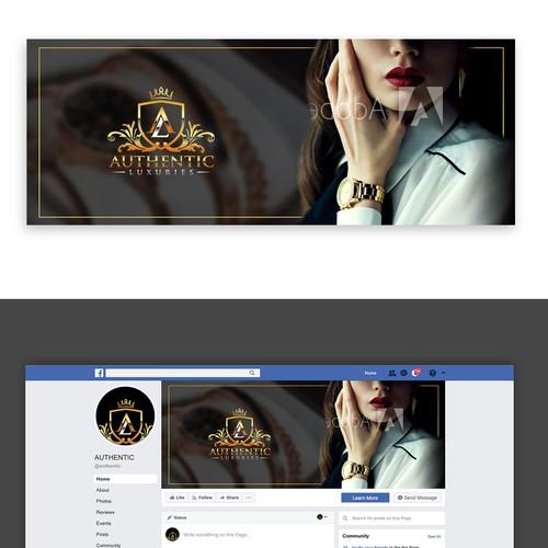 Сlassy design for social media page