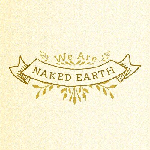 Raw, natural skincare brand WE ARE NAKED EARTH needs simple striking logo