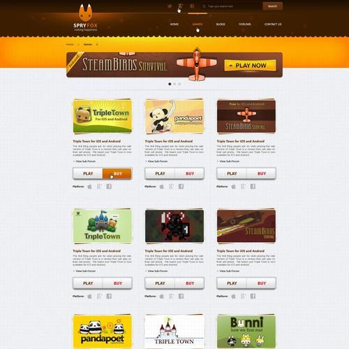 Spry Fox needs a new website design