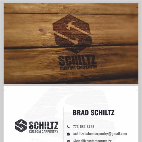 business card for schiltzcustomcarpentry