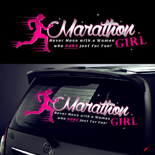 Create a Stand Out Car Window Sticker for Marathon Girl