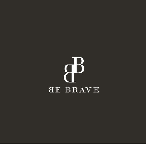 Logo design ''Be brave'', luxury and fashion.