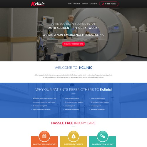 Create a website for a Medical Clinic