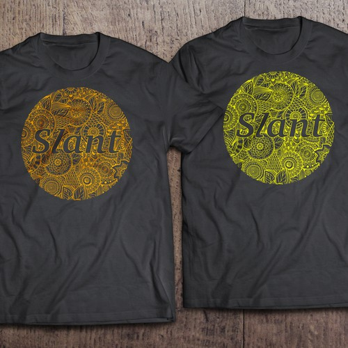 design  flat t-shirt give SLANT