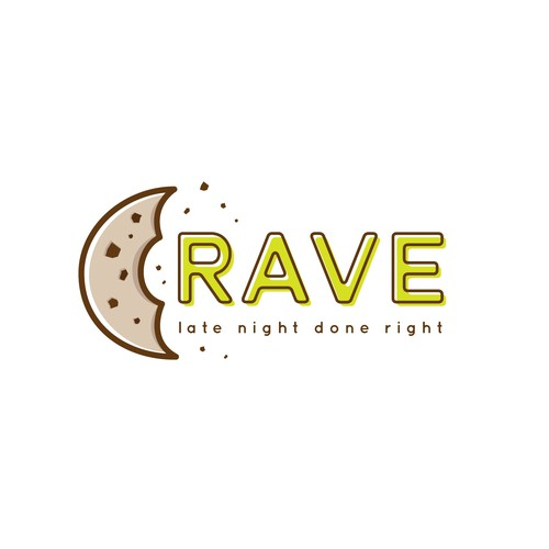 Late Night Cookie Delivery Service Logo Concept