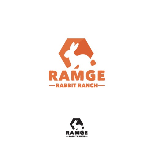 Rabbit farm logo concept