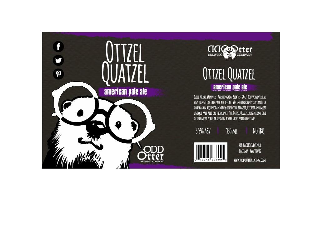 Odd Otter Beer Label