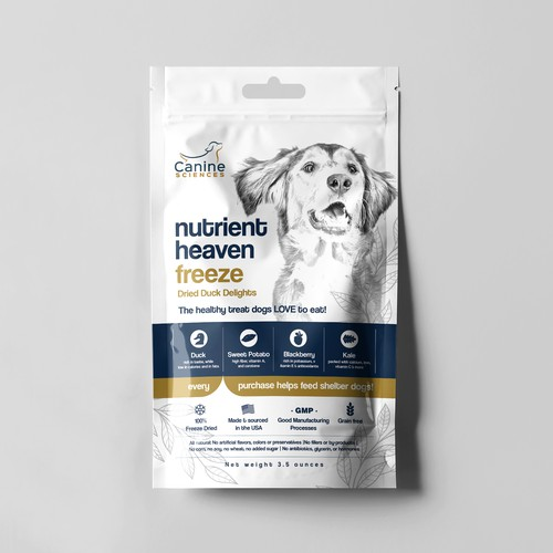The world's most delicious and nutritious dog treat needs a package design!