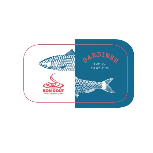 Sardines can sticker