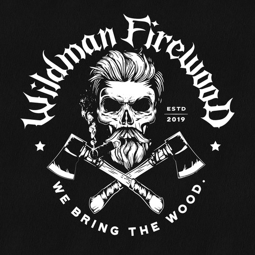 Logo design for Wildman Firewood