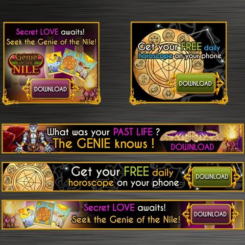 Banner ads set for mobile app